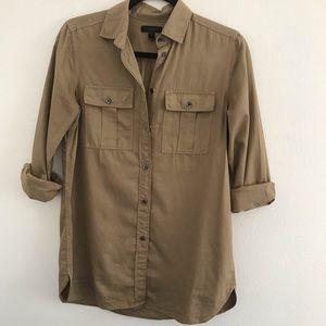 J. Crew Khaki Button Up